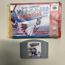 Wayne Gretzky's 3D Hockey '98 (Nintendo 64, 1997) N64 With Box NO MANUAL