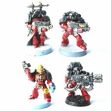WARHAMMER 40K ARMY BLOOD ANGELS FLESH TEARER  4 MAN SQUAD  PAINTED