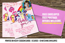 Personalized Birthday Party Thank you card My Little Pony.My little pony partyx8