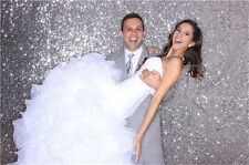 4ft*8ft Best Quality Silver Photography SEQUIN BACKDROP for Home Wedding Party