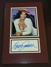 """"""" Donna Summer """"/ Custom Matted Autographed Photo"""