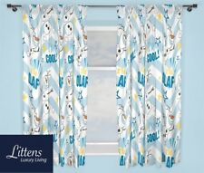 """66"""" x 54"""" Disney Frozen Olaf Pair Curtains, Ready Made, Childrens, Kids"""