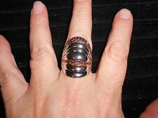Paparazzi StretchBand Ring (new) GRADED ON A CURVE - BROWN