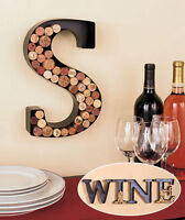 PERSONALIZED MONOGRAM LETTER INITIAL WINE LOVERS CORK HOLDER WALL ART BAR DEC0R