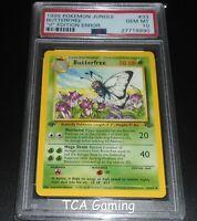 "PSA 10 GEM MINT Butterfree 33/64 ERROR 1st Edition ""d"" MISPRINT Pokemon Card"
