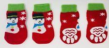 Dog Puppy Anti-slip Socks - For Tiny & Small Breeds - Snowman - Choose Size