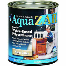 Aqua ZAR 32512 Interior Water-Based Polyurethane, Clear Satin, 1 Qt