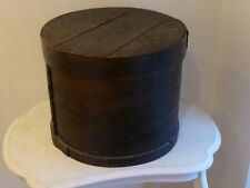 Antique Kiel Woodware Co. (Wisconsin) Primitive Ebonised Bentwood Hat Box.