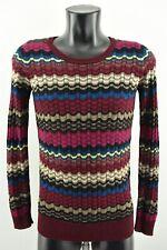 Missoni Lindex Women Jumper Long Sleeve Sweater Knit Striped Multicolour size XS