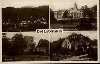 Bad Liebenstein Thüringen Mehrbildkarte ~1930 Totale Kaiserhof Schloß Altenstein
