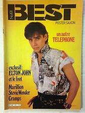 BEST N°191 1984 TELEPHONE - JEAN LOUIS AUBERT + POSTER TELEPHONE - SAXON