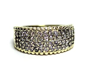 14k yellow gold .90ct SI2 H womens diamond wedding anniversary ring 5.1g band