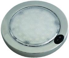 "Aqua Signal 5.5"" Dome Light-Switch 12V LED Red-White S.S. Boat RV Camper 166017"