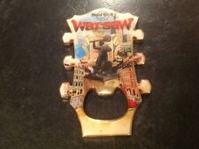 HARD ROCK CAFE BOTTLE OPENER MAGNET. WARSAW. HEADSTOCK.