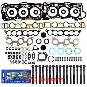 FOR TOYOTA 4RUNNER TACOMA T100 TUNDRA CYLINDER HEAD GASKET SET + BOLTS 5VZFE