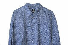 EVERGREEN SHIRT Blue & Gray XL 18.5 X 36  48 suit sz $150 Leaves USA