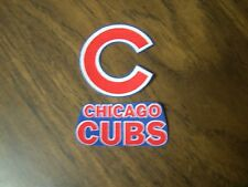 """Chicago Cubs iron on patch (set of 2) 2"""" x 2"""", 2 1/2"""" x 1"""" NEW"""