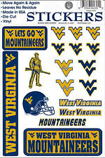 West Virginia Mountaineers Vinyl Die-Cut Stickers