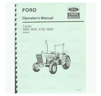 Ford 2600 3600 4100 4600 Tractor Operator's Owner's Instruction Manual Book NEW
