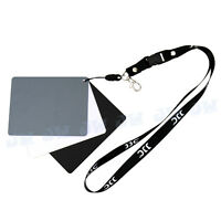 JJC 3in1 Digital Grey Card White & Black 18% Gray Color White Balance free Strap