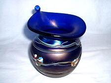 Mundgeblasene Design Glasvase Austen  Glaskunst Irisierendes Glas