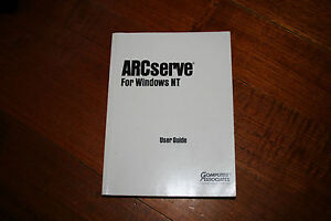 ARCserve For Windows NT - User Guide - Book