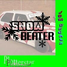 Snow Beater  Drift Winter JDM Sticker Aufkleber oem Shocker Winterauto