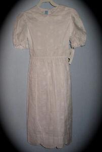 Girls Communion Dress 12 WHITE EYELET slip Wedding Confirmation New Vive La Fete
