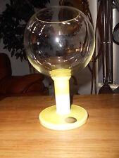 Murano Carlo Moretti Art Glass Pedestal Fish Bowl Vase Italy