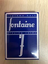 Blue Fontaine playing cards New sealed deck SUPREME BACK