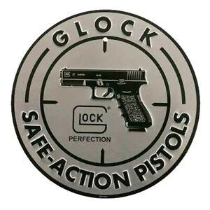 Glock AD00060 Safe Action Aluminum Silver/Black Promotional Sign