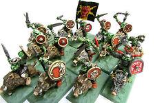 OOP Citadel / Warhammer / Marauder Miniatures Chaos MM22/4 Orc Boar Riders