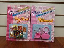Gloria Doll House Furniture/ (9502-2, 9502-3) Play Food & Utensil Set