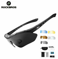 RockBros Polarized Bike Cycling Glasses Riding Goggles Sunglasses UV400 Black