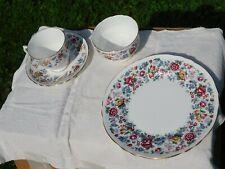 54 Piece Set of England Staffordshire Springtime Fine Bone China