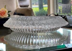 """Lalique Marguerites 13"""" Centerpiece Bowl Signed, Authentic, Mint Condition"""
