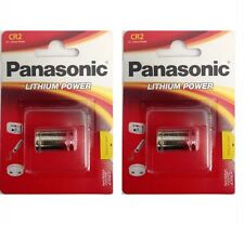 2 Pack Panasonic CR-2 CR2 CR-2PA 3V Lithium Battery In Retail PKNG FRESH