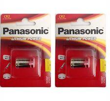 2 Pack Panasonic CR-2 CR2 CR-2PA 3V Lithium Battery In Retail PKNG FRESH