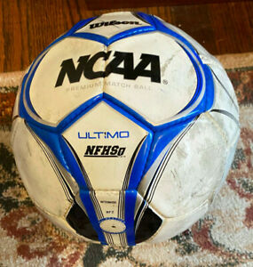Wilson NCAA & NFHSi Ultimo WTH9050 Premium Match Soccer Ball Size 5 White/Blue