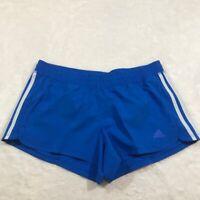NEW ADIDAS shorts Medium NWT womens blue short white stripe FJ7145 pacer woven 3