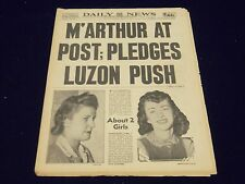 1942 MAR 21 NEW YORK DAILY NEWS - M'ARTHUR AT POST, PLEDGES LUZON PUSH - NP 1928