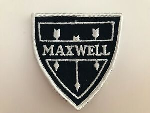 """VINTAGE  EMBROIDERED MAXWELL JACKET PATCH 3"""" X 3"""""""