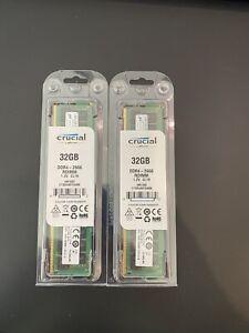 MICRON CRUCIAL 32GB DDR4-2666 RDIMM 1.2V CL19. BRAND NEW