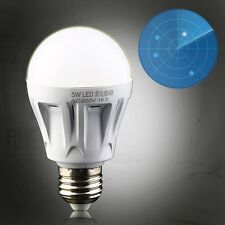 5W E27 LED PIR Motion Sensor Detection Lamp White Bulb Outdoor Night Light USA
