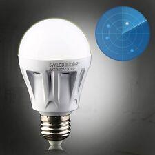 5W E27 LED PIR Motion Sensor Detection Lamp White Bulb Outdoor Night Light DE