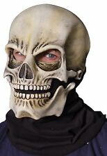 Skull Latex Mask Sock Creepy Classic Realistic Moving Jaw Adult 1010MDBS