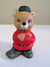 "Homco Porcelain Boy Bear Figurine ""Around The World Bears"" #1406"