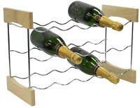 3 Tier Chrome Wine Rack Wine Storage Display Rack Holder Up to 15 Bottles