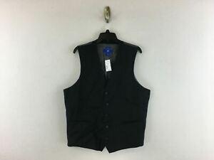 Men's Men's Warehouse Egara Slim fit Suit Separates Vest- Size XL- Black