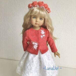 """Outfit for doll Little Darling Effner 13"""". jacket, skirt,  headband and  boots"""